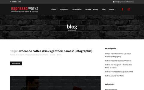 Screenshot of Blog espressoworks.com.au - Blog - Espresso Works - captured July 21, 2018