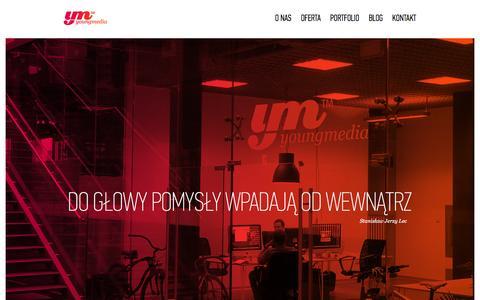 Screenshot of Home Page youngmedia.pl - youngmedia - agencja interaktywna śląsk - captured Feb. 13, 2016