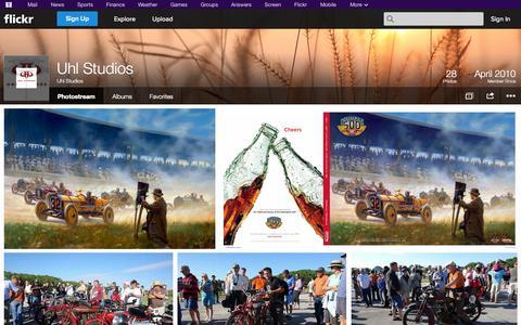 Screenshot of Flickr Page flickr.com - Flickr: Uhl Studios' Photostream - captured Oct. 27, 2014
