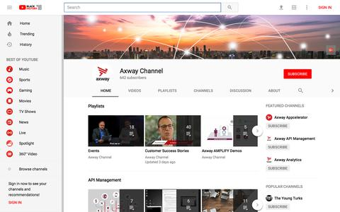 Axway Channel - YouTube - YouTube