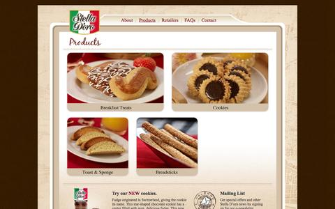 Screenshot of Products Page stelladoro.com - Stella Doro   » Products - captured Oct. 7, 2014