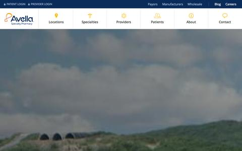 Screenshot of Home Page avella.com - Specialty Pharmacy | Avella Specialty Pharmacy - captured Sept. 24, 2014