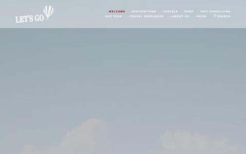 Screenshot of Home Page letsgo.com - Let's Go - captured Sept. 23, 2014