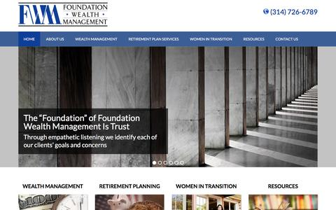 Screenshot of Home Page fwmria.com - Foundation Wealth Management | Wealth Management Services - captured Feb. 10, 2016