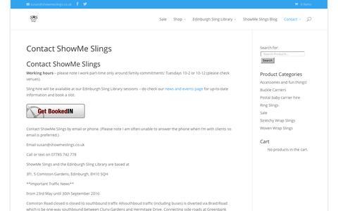 Screenshot of Contact Page showmeslings.co.uk - Contact ShowMe Slings - ShowMe Slings - captured Aug. 13, 2016
