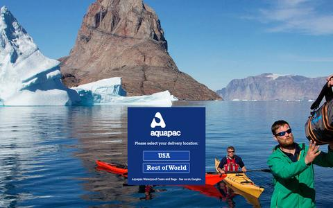Screenshot of Home Page aquapac.net - Aquapac - Waterproof Cases for cameras, iPhone, iPad, iPod cases and more. 100% Waterproof cases, backpacks and  drybags - captured Nov. 21, 2016