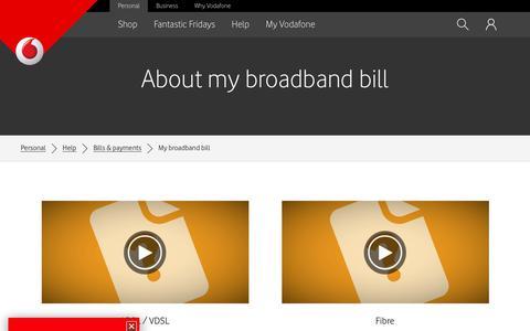 About my broadband bill - Vodafone NZ