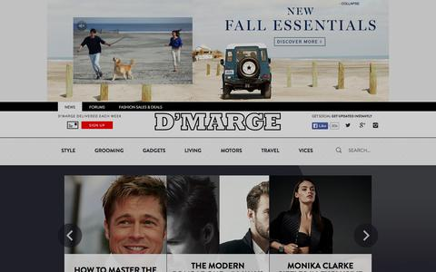 Screenshot of Home Page Press Page dmarge.com - Menswear, Style and Fashion Blog by D'Marge - captured Sept. 19, 2014