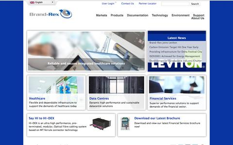 Screenshot of Home Page brand-rex.com - Brand-Rex - Network Infrastructure Cabling Systems - captured Jan. 7, 2016