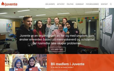 Screenshot of Home Page juvente.no - Hovedside – Juvente - captured Sept. 20, 2018