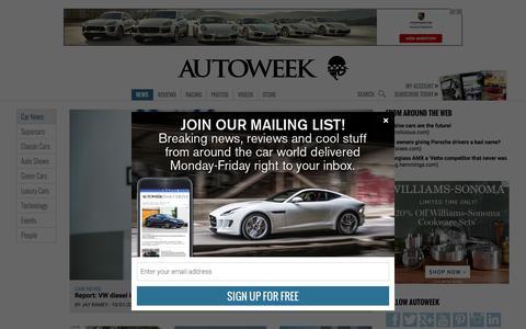 Screenshot of Press Page autoweek.com - Car News   Autoweek - captured Oct. 2, 2015