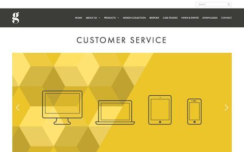 Screenshot of Support Page gof.co.uk - Customer Service – Gresham - captured Nov. 16, 2016