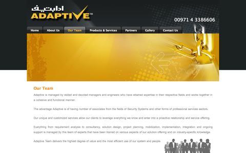 Screenshot of Team Page adaptivellc.com - Adaptive Technologies - Our Team - captured Oct. 4, 2014