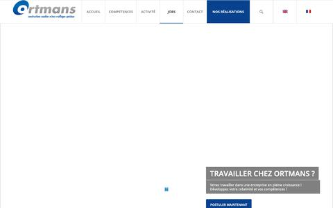 Screenshot of Jobs Page ortmans.be - JOBS - Ortmans SA - captured Nov. 17, 2018