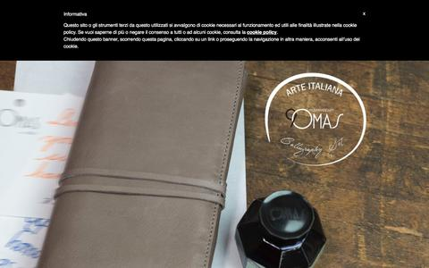 Screenshot of Home Page omas.com - OMAS - Writing instruments handcrafted in Italy since 1925 - captured Dec. 6, 2016