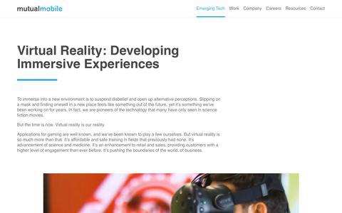 Virtual Reality - Mutual Mobile