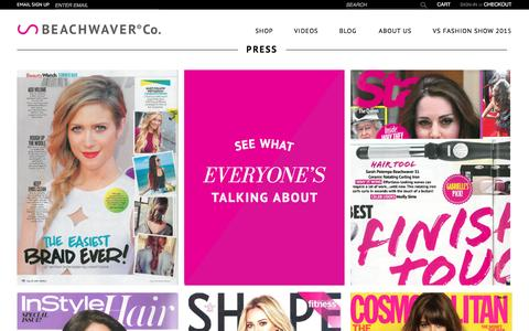 Screenshot of Press Page beachwaver.com - Press | The Beachwaver Co. - captured June 27, 2016