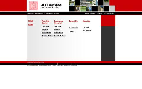 Screenshot of Site Map Page elac.bc.ca - LEES + Associates - Site Map - captured Oct. 1, 2014