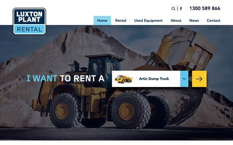 Screenshot of Home Page luxtonplant.com.au - Home - Luxton Plant Earthmoving Rental - captured Sept. 30, 2018