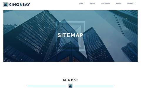 Screenshot of Site Map Page kingandbay.com - King & Bay - Site Map - captured Sept. 25, 2018