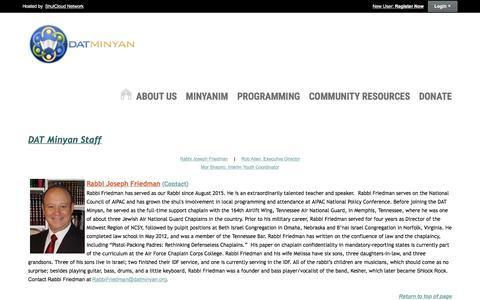 Screenshot of Team Page datminyan.org - Staff - captured Aug. 5, 2018