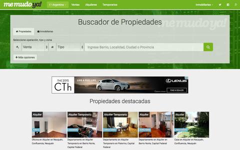 Screenshot of Home Page memudoya.com - MemudoYa!   Buscador de propiedades - captured Jan. 26, 2015