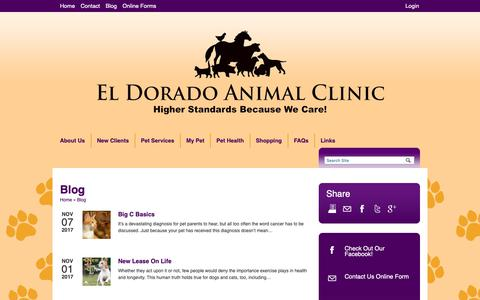 Screenshot of Blog eacwecare.com - Blog | Veterinarians El Dorado Kansas | El Dorado Animal Clinic - captured Sept. 27, 2018