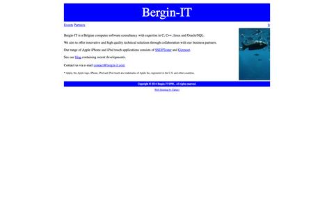 Screenshot of Home Page bergin-it.com - Bergin-IT - captured Sept. 30, 2014
