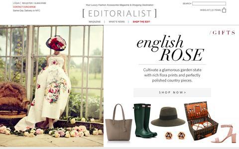 Screenshot of Home Page editorialist.com - Editorialist | Luxury Fashion Accessories Magazine & Online Store - captured Dec. 22, 2015