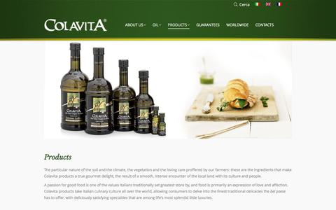 Screenshot of Products Page colavita.it - PRODUCTS - Colavita - captured Nov. 8, 2016