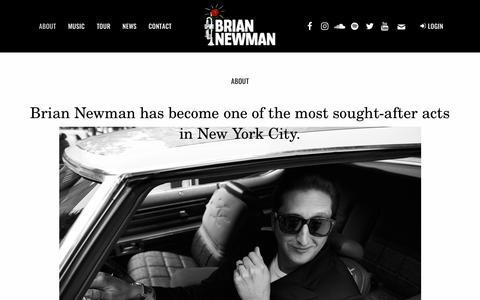 Screenshot of About Page briannewman.com - About | Brian Newman - captured Feb. 19, 2018