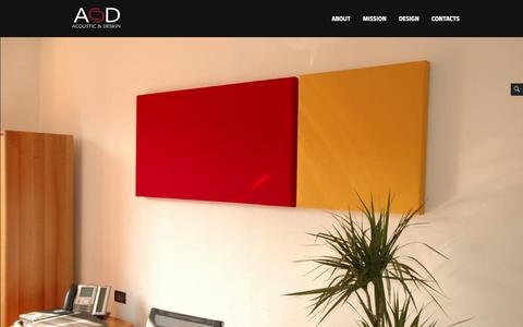 Screenshot of Home Page acousticanddesign.com - A&D | acousticanddesign - captured Oct. 4, 2014