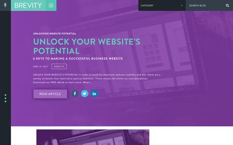 Screenshot of Blog seekbrevity.com - Blog - Brevity Digital Design & Branding - captured July 6, 2017