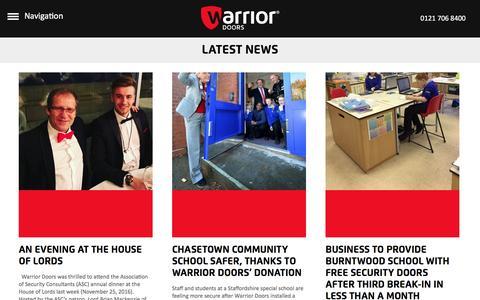 Screenshot of Press Page warriordoors.co.uk - Communal High Security Entrance Doors | Warrior DoorsNews Archives - Communal High Security Entrance Doors | Warrior Doors - captured Dec. 12, 2016
