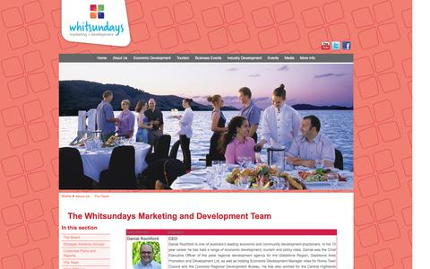 Screenshot of Team Page wmdl.com.au - Whitsundays Marketing and Development > About Us > The Team - captured Oct. 2, 2014