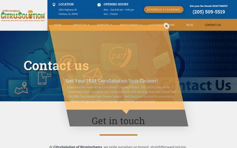 Screenshot of Contact Page citrusbirmingham.com - | CitruSolution of Birmingham | (205) 509-5519 - captured Aug. 21, 2018