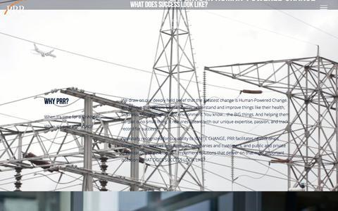 Screenshot of Home Page prrbiz.com - PRR | Communications, Marketing, Research, & Digital - captured July 10, 2017