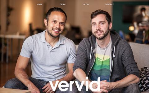 Screenshot of Team Page vervid.com - Team - captured Nov. 17, 2015