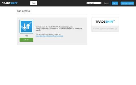 Tradeshift - Van access