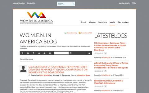 Screenshot of Blog womeninamerica.net - Blog - Blog - captured Oct. 27, 2014