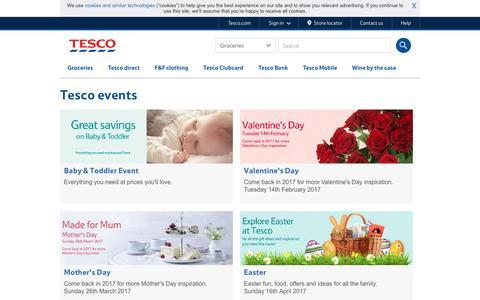Events at Tesco - Tesco.com