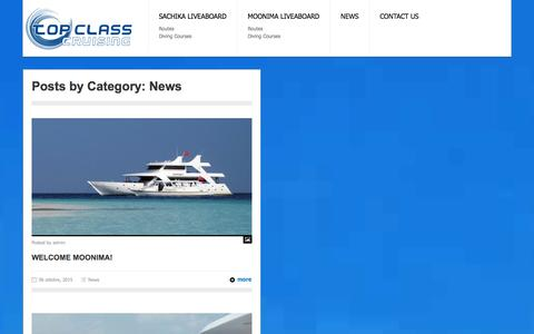Screenshot of Press Page topclasscruising.com - News | Top Class Cruising - captured Jan. 12, 2016
