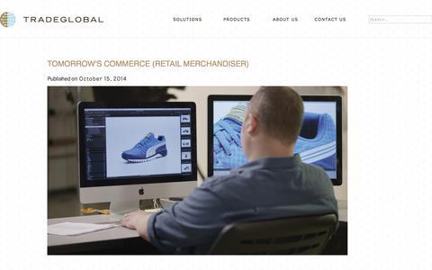 Screenshot of Press Page tradeglobal.com - Tomorrow's Commerce (Retail Merchandiser) - TradeGlobal® - captured Feb. 20, 2020