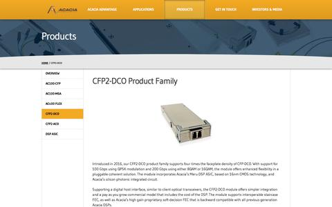 CFP2-DCO Product Family - Acacia Communications