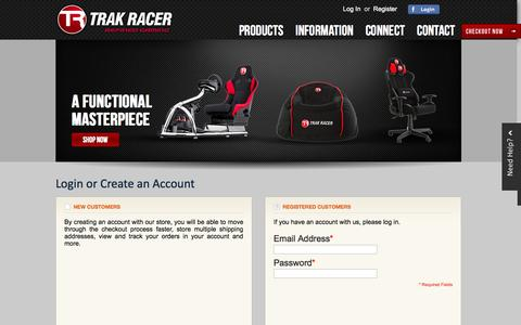 Screenshot of Login Page trakracer.com.au - Customer Login - captured Sept. 30, 2014