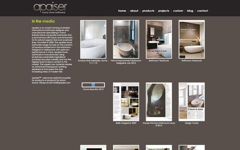 Screenshot of Press Page apaiser.com - apaiser   In the media - captured Sept. 30, 2014