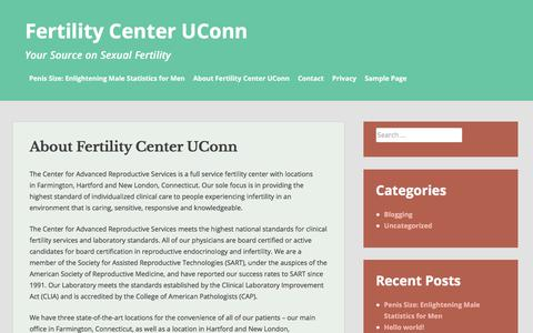 Screenshot of About Page fertilitycenter-uconn.org - About Fertility Center UConn – Fertility Center UConn - captured Jan. 12, 2020