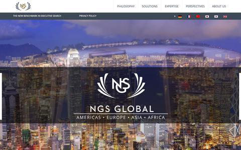Screenshot of Home Page ngs-global.com - NGS Global - NGS Global - captured Oct. 19, 2018
