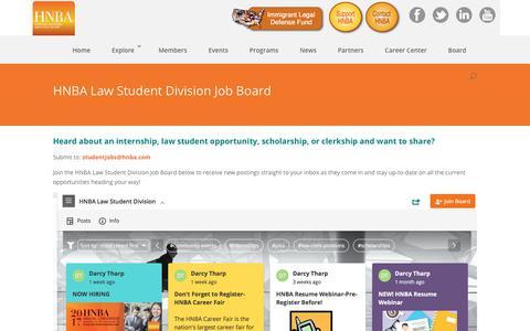 Screenshot of Signup Page hnba.com - HNBA Law Student Division Interactive Job Board | HNBA - captured Aug. 18, 2017