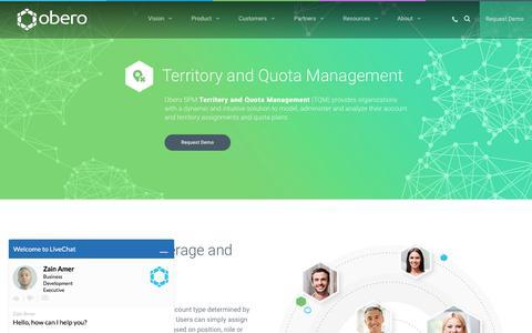 Territory and Quota Management - Obero SPM